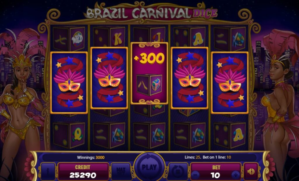 Supergame and Mancala Gaming present Brazil Carnival Dice - Brazil Carnival Dice wild - you win