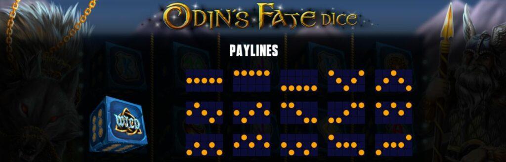 Supergame et Mancala Gaming présentent Odin's Fate Dice - Mancala Gaming - Odin's Fate Dice Paylines