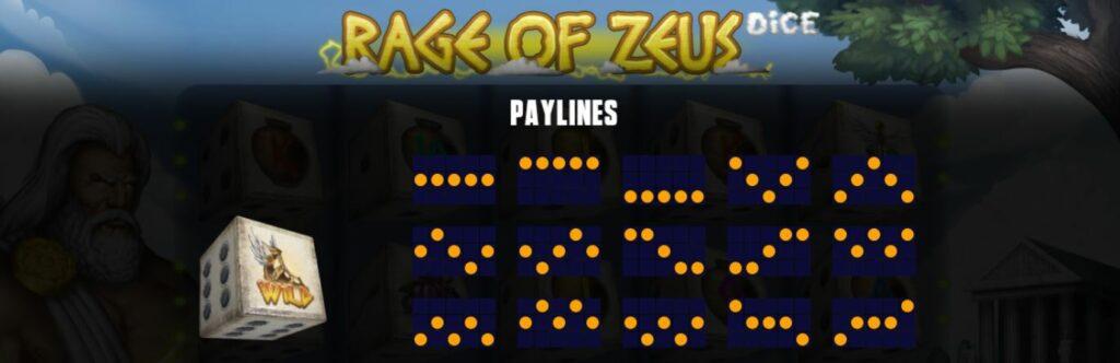 Supergame en Mancala Gaming presenteren Rage of Zeus Dice - Mancala Gaming - Rage of Zeus Paylines