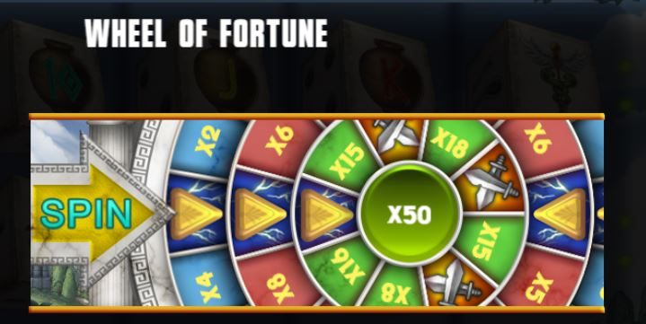 Supergame en Mancala Gaming presenteren Rage of Zeus Dice - Mancala Gaming - Rage of Zeus Wheel of Fortune