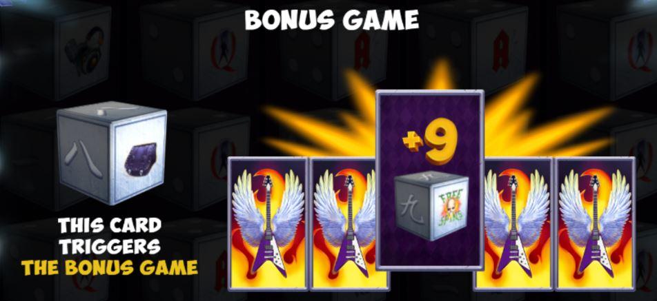 Supergame et Mancala Gaming présentent Rock Gig Dice - Macala Gaming - Rock Gig Dice bonus game