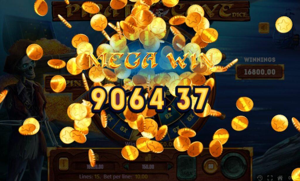 Supergame et Mancala Gaming présentent Pirate Cave Dice - Pirate Cave DIce mega win