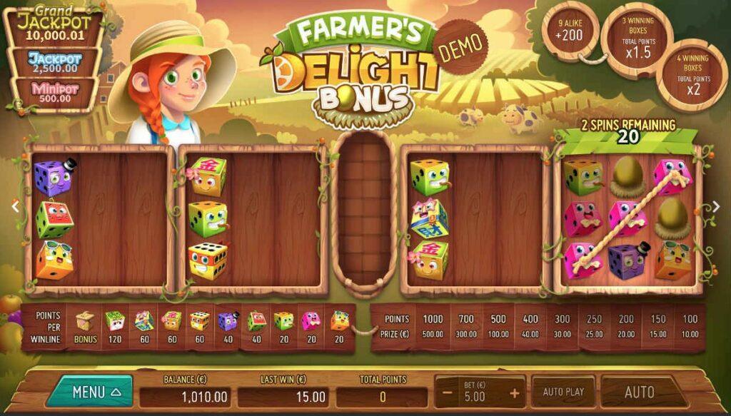 farmers delight bonus