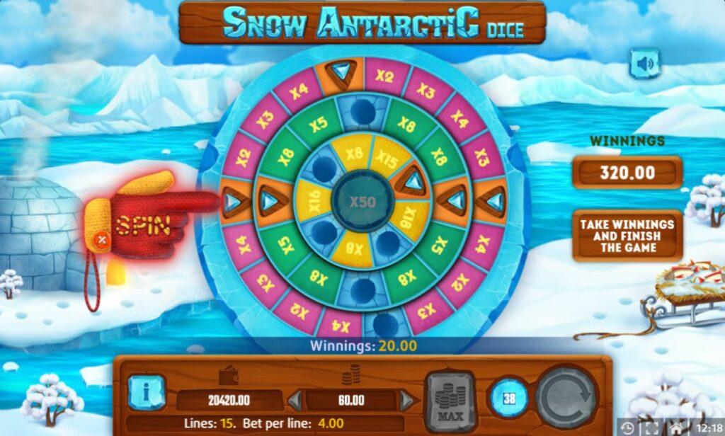 Supergame et Mancala Gaming présentent Snow Antarctic Dice - Snow Antarctic Dice - Rad van Fortuin