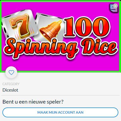 100 Spinning Dice NL